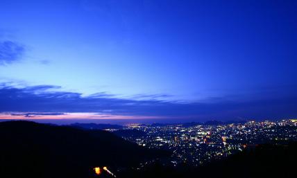 播磨平野の夜景を一望